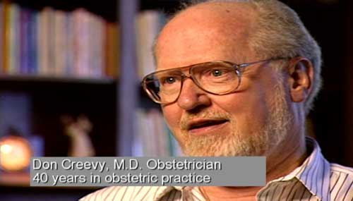 Don Creevy, M.D. Obstetrician, 40 years in obstetric practice