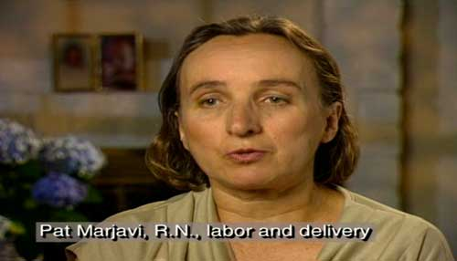 Pat Marjavi, R.N. labor and delivery